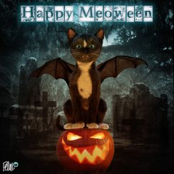 Felini says Happy Meoween on youtube