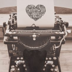 Felini cat - typewriter heart