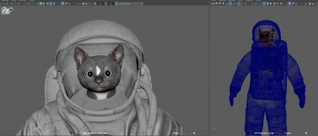Work in progress picture hardware render of the Felini for #dearMoon