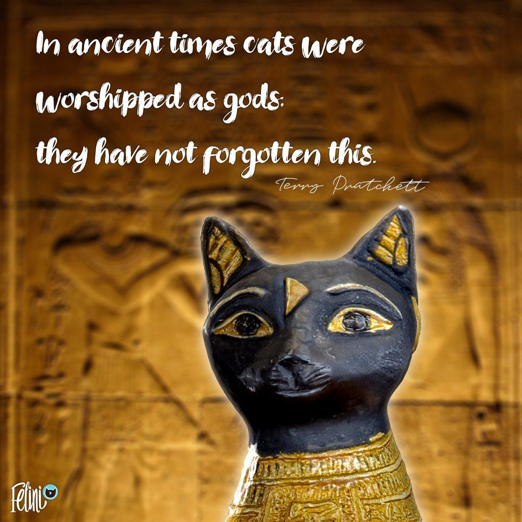 Felini as ancient cat god statue