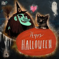 Felini says Happy Meoween!